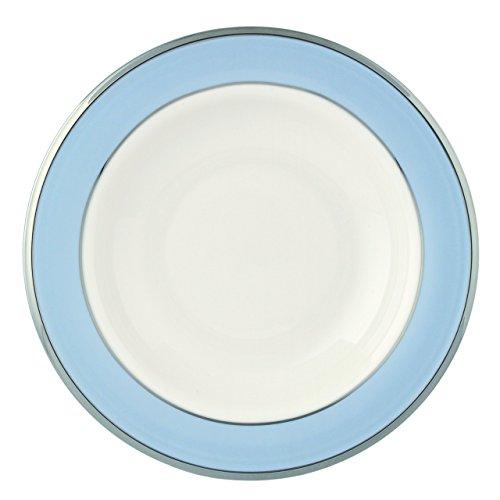 Lenox Blue Frost Platinum Banded Ivory China Pasta BowlRim Soup