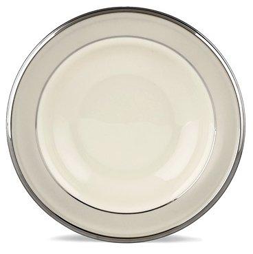 Lenox Ivory Frost Platinum Banded Ivory China Pasta BowlRim Soup