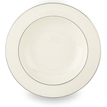 Lenox Tribeca Platinum Banded Bone China Pasta BowlRim Soup