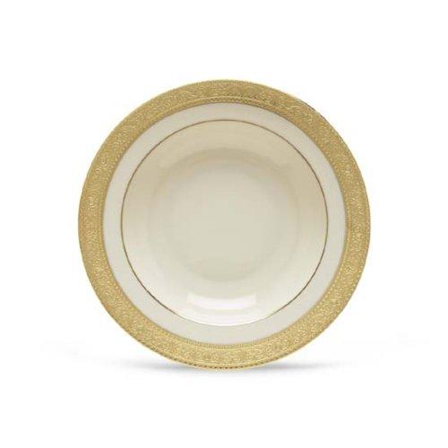 Lenox Westchester Gold Banded Ivory China Pasta BowlRim Soup