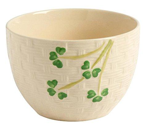 Celtic Classics Traditional Irish Basket Weave Shamrocks Cereal Soup Bowl 32 ounce