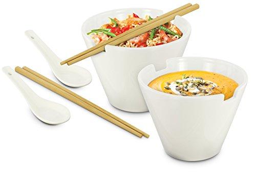Kovot Noodle Soup Bowl Set - 28 Oz Bowls - Great For Pho Ramen Noodle And Miso Soups