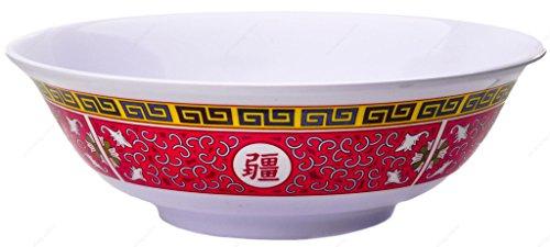 Melamine Oriental Pho Noodle Soup Bowl 36 Ounce Longevity Design Set of 2