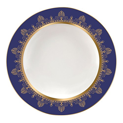 Wedgwood Anthemion Rim Soup Plate 9 Blue