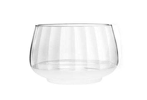 Qualia Glass 10-Inch Arctic Deep Salad Bowl Full Clear