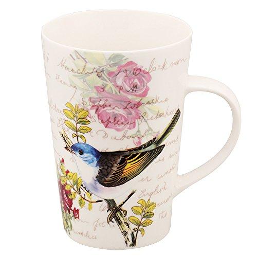 Mallvoler Sparrow Design Large Porcelain Insulated Coffee Tea Mugs17oz 500ml