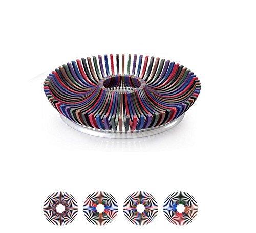 Clearance Sale-Shatter Proof Fruit Tray Platter DIY - Tough Plastic Fruit Bowl - Make Beautiful Fruit Arrangements - Multi-color Fruit Trays Fruit Plate for Parties Weddings Baby Showers-No Box