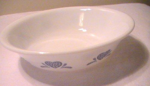 Corelle Blue Heart SoupCerealFruitDessert Sauce Bowl - One 1 Bowl