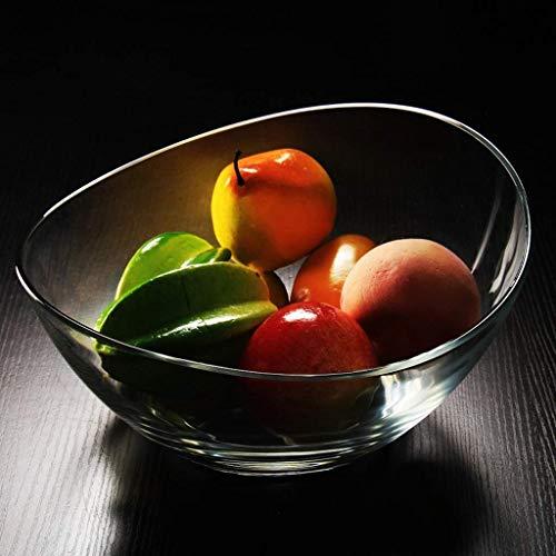 QTQHOME Glass Fruit Dessert Bowl Fruit Plate Salad Dish Living Room Candy Dish Dried Fruit Plate 1365cm2010cm29145cm Fruit Dish Size1365cm
