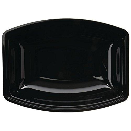 Cambro Ribbed 5 qt Rectangular Black Plastic Bowl - 14L x 10W