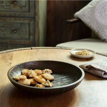 RANG RESHA tribal mango wood bowl brown
