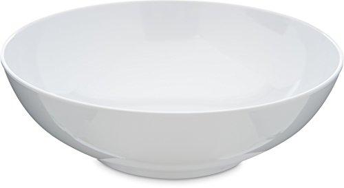 Carlisle 4381302 Epicure Melamine Salad  Serving Bowl 40 Oz White Set of 12