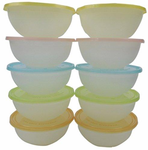 Table To Go 240-Pack Storage Noodle Bowls with Lids 1 Compartment 35 oz Multicolor Lids