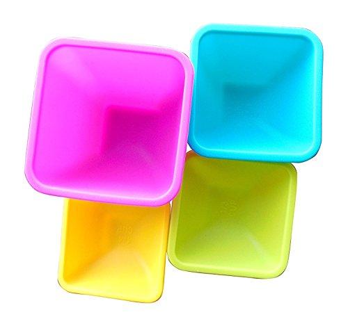 Core Kitchen 4 Piece Square Silicone Pinch Bowl Set