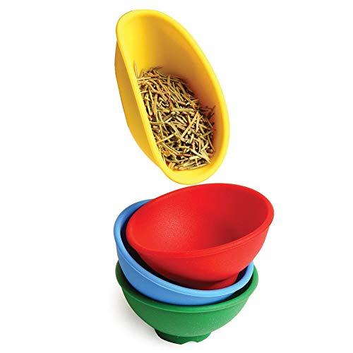FidgetKute 4 Color Mini Flexible Silicone Pinch Bowl Set of 4 Spice Kitchen Prep Tools 1pc One Size