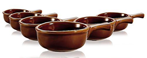 Brown Onion Soup Crock With Handle 15 oz set of 6 - by TableTop King
