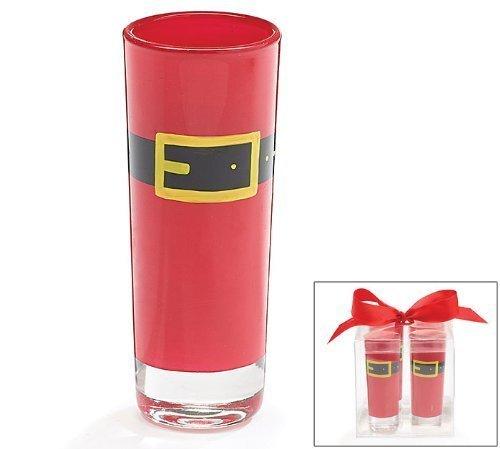 Santa Belt Shot Glass Gift Set of 4 by Burton Burton