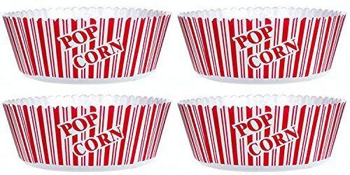 Popcorn Serving Bowl Set of 4 - Large Size 10 X 475- Popcorn Tub