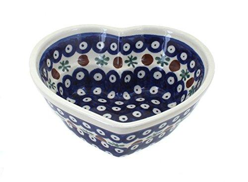 Polish Pottery Nature Small Heart Bowl