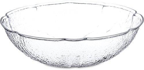 Carlisle LB1607 Acrylic Leaf Bowl 8 qt Capacity 15-14 Dia x 4-34 H Clear Case of 4