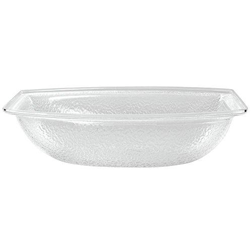 Carlisle OSB17207 55 Qt Clear Oval Pebbled Acrylic Bowl
