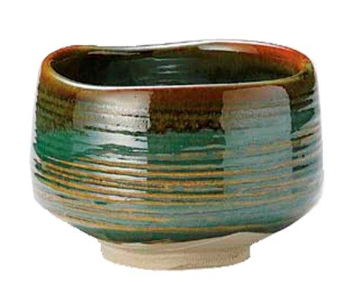 Yamakiikai Mino ware Marusho blue Shino tea bowl L1783