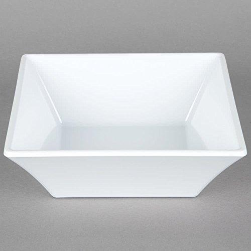 23 oz White Square Bowl Break Resistant Siciliano by GET ML-279-W Qty1