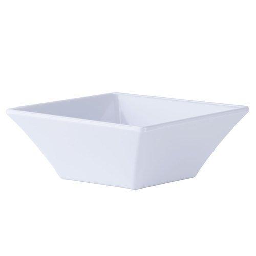 8 oz White Square Bowl Break Resistant Siciliano by GET ML-278-W Qty1