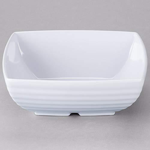 GET ML-66-W Milano 8 White Square Bowl - 12  CS