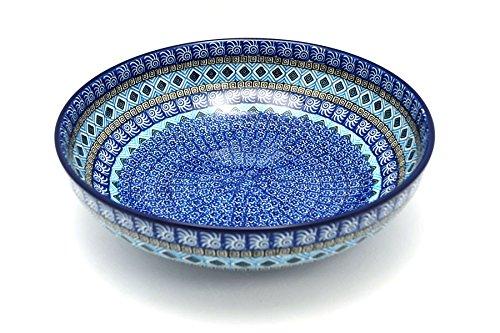 Polish Pottery Bowl - Contemporary - Large 11 - Aztec Sky