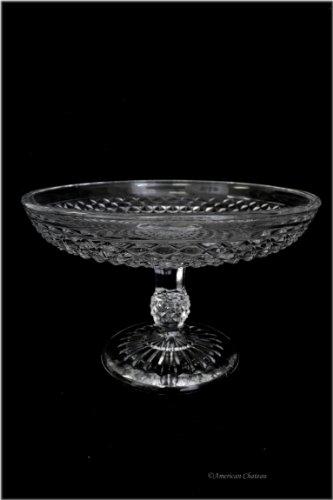 8 Vintage Depression Style Glass Pedestal Fruit Stand Bowl Centerpiece