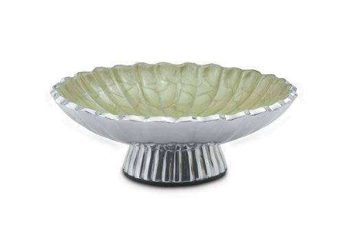 Julia Knight Peony Pedestal Bowl 8-Inch Kiwi Green
