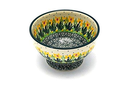 Polish Pottery Bowl - Pedestal - Small - Daffodil
