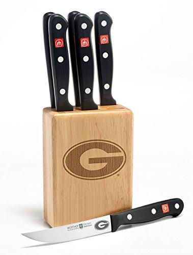 Gourmet 7 Pc Georgia Steak Knife Block Set - Clearance