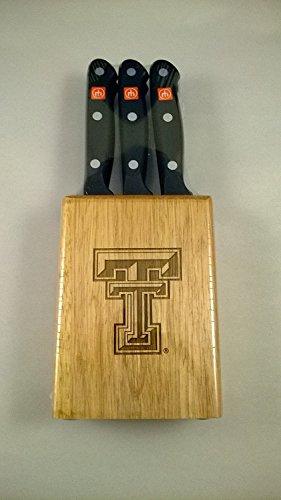Gourmet 7 Pc Texas Tech Steak Knife Block Set - Clearance
