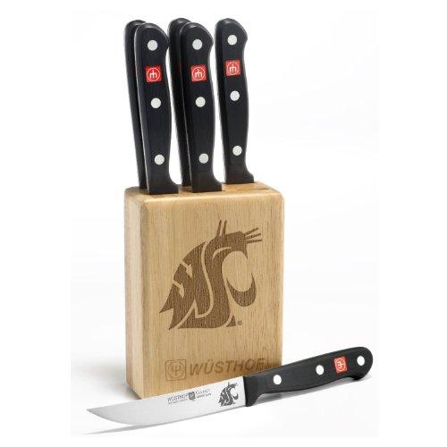 Gourmet 7 Pc Washington State Steak Knife Block Set - Clearance