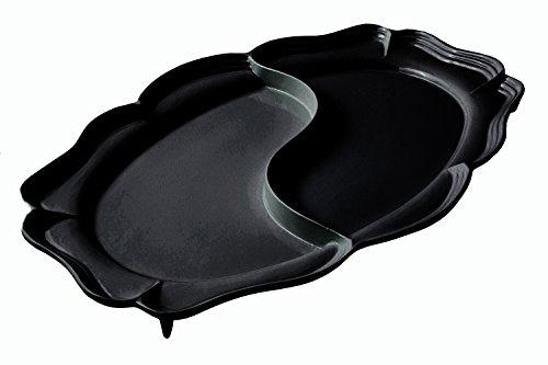 Bon Chef 2032DBLK Queen Anne Divided Platter 26-34 x 48 Black