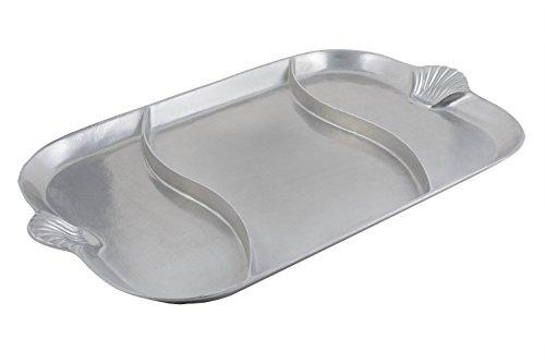 Bon Chef 2069DPG AluminumPewter Glo Shell Divided Platter 32 Length x 22 Width