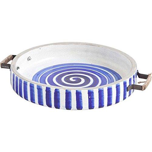 Solatta BlueWhite Ceramic Hand Painted Serving Tray