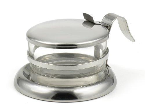StainlessLUX 73444 Brilliant Stainless Steel Salt ServerCheese BowlCondiment Glass Serving Bowl - Quality Serveware for Your Kitchen