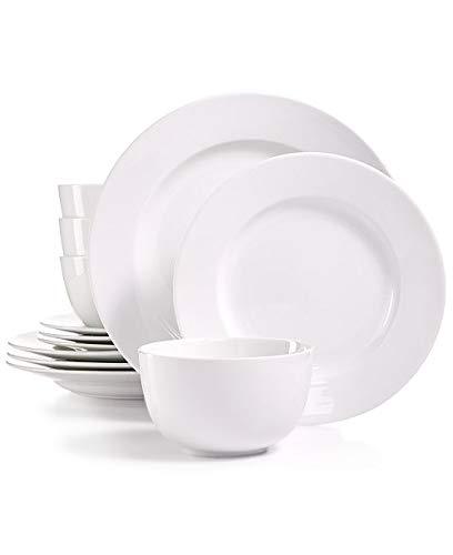 Martha Stewart Collection Whiteware 12-Pc Dinnerware Set Service for 4