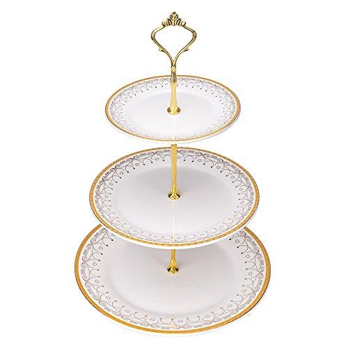 Mkono 3 Tier Cake Stand Cupcake Stands Dessert Plates