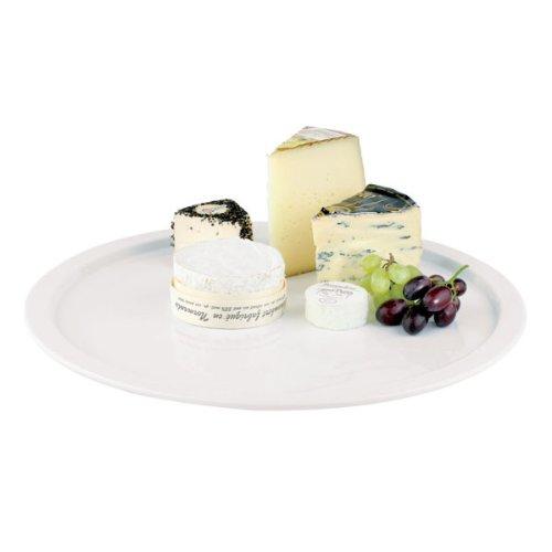 Aps Paderno World Cuisine Round White Melamine Platter 15-Inch