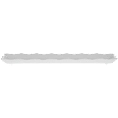 GET Bake Brew White Melamine Platter - 21L x 5 14W x 12H