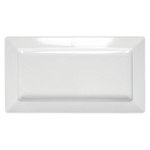 HUBERT Rectangular White Melamine Platter -19 12L x 10 34W x 2H