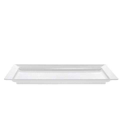 HUBERT Rectangular White Melamine Platter - 28L x 16W x 2 14H