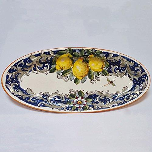 Arte DItalia Imports Volute Handmade Hand Painted Large Oval Platter