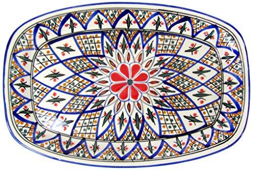 Le Souk Ceramique TK29 Stoneware Rectangular Platter Tabarka