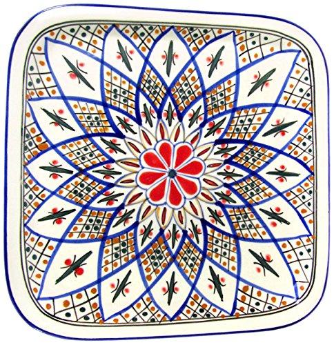 Le Souk Ceramique TK36 Stoneware Square Platter Tabarka
