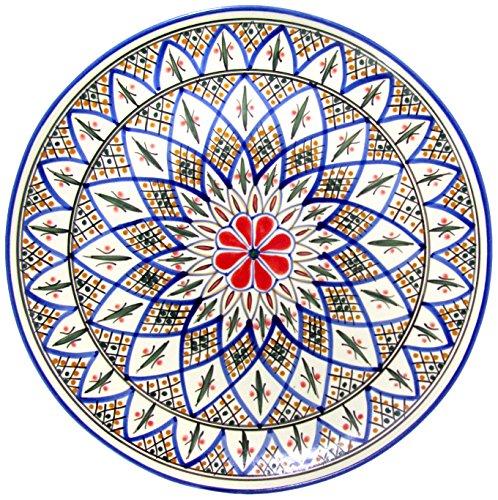 Le Souk Ceramique TK42 Stoneware Round Platter Tabarka